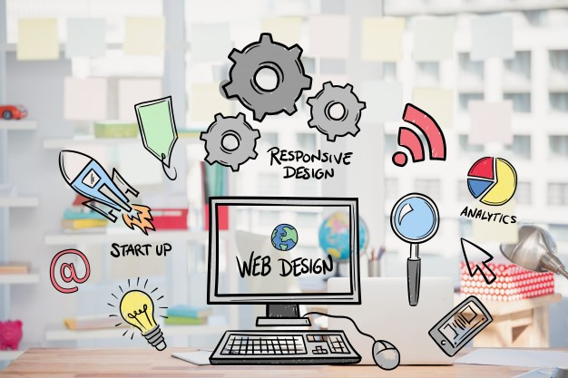 Web Design Concept With Drawings
